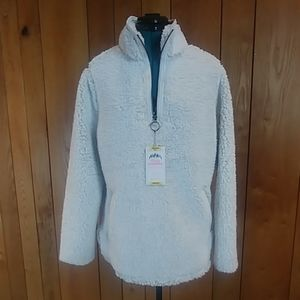 ⚡SALE! NWT Ivory Cozy Sherpa Pullover Sweater M
